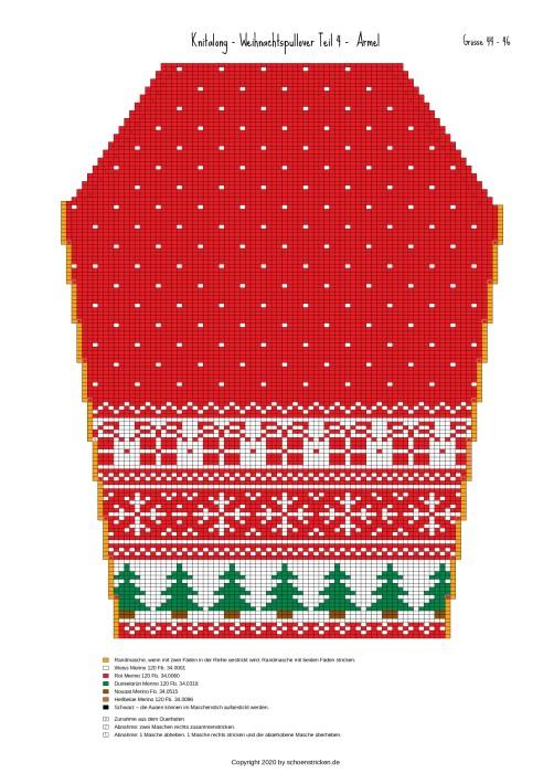 Weihnachtspullover Ärmel 44-46