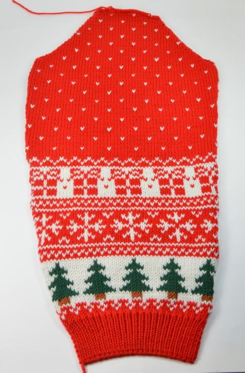 Weihnachtspullover Knitalong Ärmel
