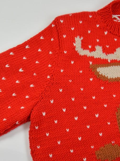 Weihnachtspullover Knitalong Armausschnitt