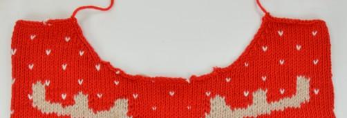 Weihnachtspullover Knitalong Halsausschnitt