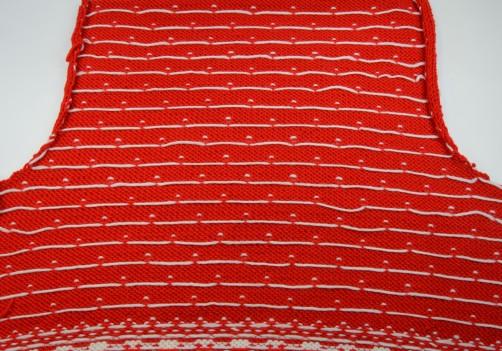 Weihnachtspullover Knitalong Rückenteil Rückseite