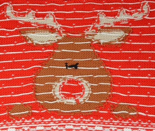 Weihnachtspullover Knitalong Vorderteil Rückseite