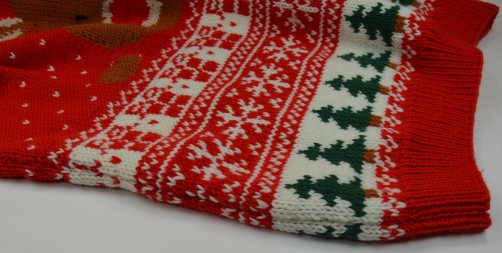 Weihnachtspullover Knitalong seitliche Naht