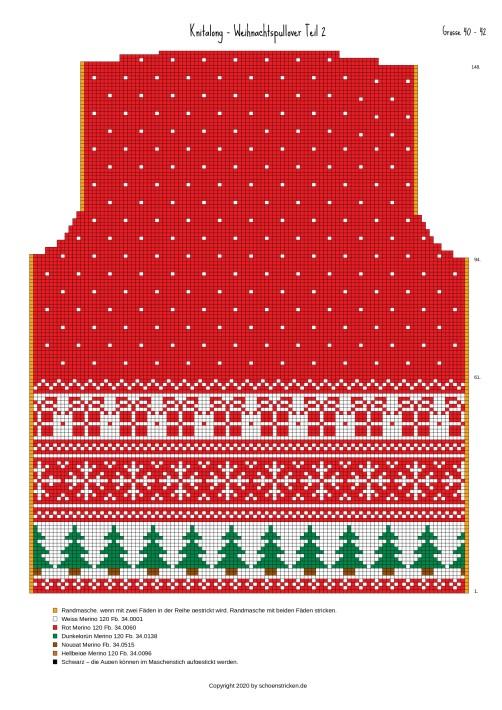 Weihnachtspullover Rückenteil 40-42