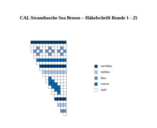 CAL Strandtasche Sea Breeze Teil 1 Häkelschrift