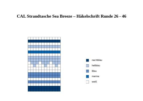 CAL Strandtasche Sea Breeze Teil 2 Häkelschrift