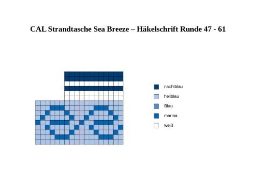 CAL Strandtasche Sea Breeze Teil 3 Häkelschrift