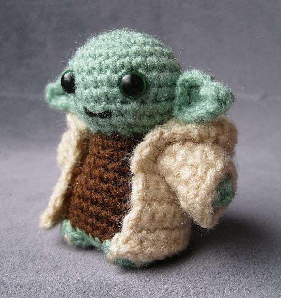 Amigurumi Hakeln Star Wars : Hakel- Jedimeister Yoda - schoenstricken.de